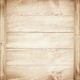 Prateleiras vazias no fundo de madeira Imagens de Stock Royalty Free