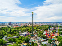 Prater公园在维也纳 库存照片