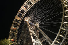 Prater. Giant Ferris Wheel in Prater, Vienna at night Royalty Free Stock Photography