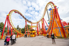 Prater Amusement Park in Vienna, Austria. Stock Photo