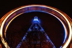 Prater Ferris Wheel in run, Wien, Austria Stock Image