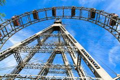 Prater - giant old ferris wheel, Vienna, Austria Royalty Free Stock Photography