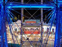 VIENNA, AUSTRIA - SEPTEMBER 8, 2017. Prater - giant old ferris wheel in Vienna, Austria. Prater - giant old ferris wheel in Vienna, Austria Royalty Free Stock Images