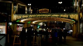 Prater sign at entrance in amusement park , Vienna, 4K stock video footage