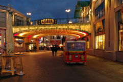 Amusement park Prater, at night - landmark attraction in Vienna, Austria Royalty Free Stock Photos