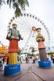 PraterPretpark in Wenen, Oostenrijk. Verticale foto Royalty-vrije Stock Afbeeldingen