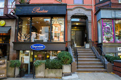 Pratesi, Newbury St, Boston, MA. Royalty Free Stock Photos