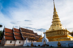 Prathat Chahang Temple at Nan Province, Thailand Stock Images