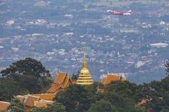 Prathat Doi Suthep Temp at Chiang Mai, Thailand. Wat Phra That Doi Suthep, Thai pronunciation, Northern Thai pronunciation is a Theravada wat in Chiang Mai Stock Image