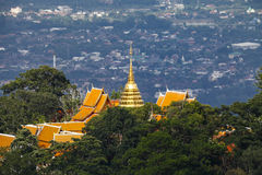 Prathat Doi Suthep Temp at Chiang Mai, Thailand. Wat Phra That Doi Suthep, Thai pronunciation, Northern Thai pronunciation is a Theravada wat in Chiang Mai Royalty Free Stock Photography