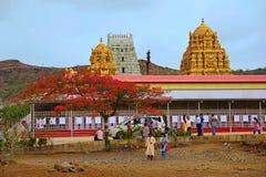 Prati Balaji寺庙, Narayanpur看法  免版税库存图片