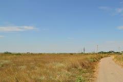 Prati della regione di Cherson, Ucraina Fotografie Stock