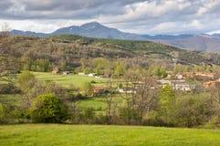 Prati di fieno nella valle di Fenar Fotografia Stock Libera da Diritti