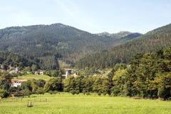 Prati in villaggio rurale fotografie stock