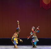 "Pratia and pike fight--Peking opera ""Little Worriors of Yeuh's family"" Royalty Free Stock Image"