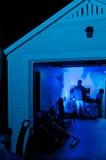 Pratica del DJ del garage Fotografia Stock Libera da Diritti