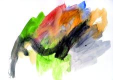 Pratica dell'acquerello Fotografia Stock Libera da Diritti