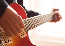 Pratica della chitarra Fotografia Stock Libera da Diritti