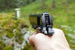 Pratica della fucilazione nel legno Fotografia Stock Libera da Diritti