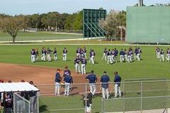 Pratica di allenamento primaverile di Minnesota Twins Immagine Stock