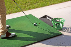 Pratica di golf Immagine Stock