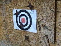 Pratica di Shuriken Ninja Throwing Star Target, Shiga Giappone fotografia stock libera da diritti