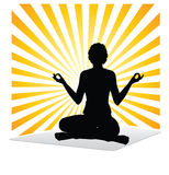 Pratica di yoga Fotografia Stock Libera da Diritti
