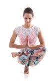 Pratica di yoga Fotografia Stock