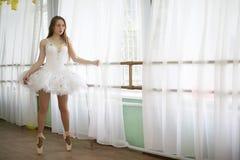 Pratica graziosa del ballerino di balletto della ragazza Immagini Stock