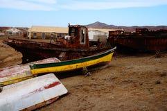 Praticando il surfing in Africa Fotografia Stock Libera da Diritti