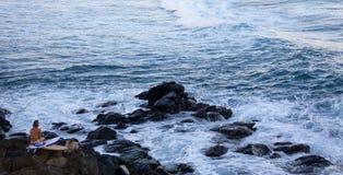 Praticando il surfing al okipa noioso del ` Fotografia Stock Libera da Diritti