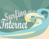 Praticando il surfing su Internet. E-business Immagini Stock