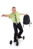 Praticando il surfing verso il successo Fotografia Stock Libera da Diritti