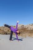 Praticando sulla spiaggia Fotografie Stock Libere da Diritti