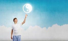 Praticar da ioga Imagens de Stock