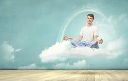 Praticar da ioga Foto de Stock