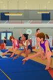 Praticar das meninas ginástico Imagem de Stock Royalty Free