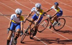 Praticar dos ciclistas Foto de Stock Royalty Free