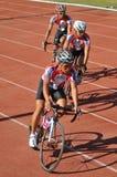 Praticar dos ciclistas Imagens de Stock