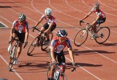 Praticar dos ciclistas Fotografia de Stock