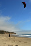 Praticare il surfing del cervo volante Fotografie Stock Libere da Diritti