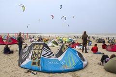 Praticare il surfing del cervo volante della tazza di mondo Fotografia Stock Libera da Diritti