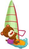 Praticare il surfing del vento dell'orso Fotografia Stock Libera da Diritti