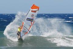 Praticare il surfing del vento di PWA Fotografia Stock