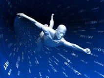 Praticare il surfing di Internet Fotografia Stock Libera da Diritti