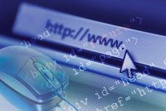 Praticare il surfing di Internet Immagine Stock Libera da Diritti