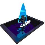 Praticare il surfing di Internet Fotografie Stock Libere da Diritti