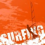 Praticare il surfing di vettore Fotografia Stock Libera da Diritti