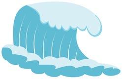 Praticare il surfing di Wave Fotografia Stock