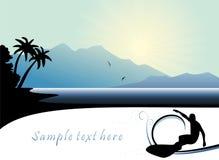 Praticare il surfing estremo royalty illustrazione gratis